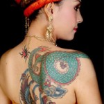 tattoo design on womans back